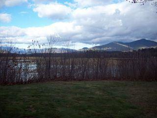 North Conway house photo - Back side of home. Views of Moat Mountains from Back Covered Porch
