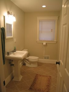 Half bath on 1st floor