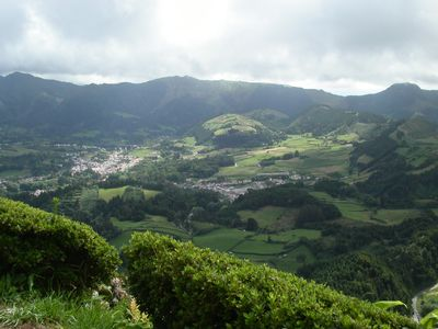 Unforgettable hiking trails, small village in volcanic crater