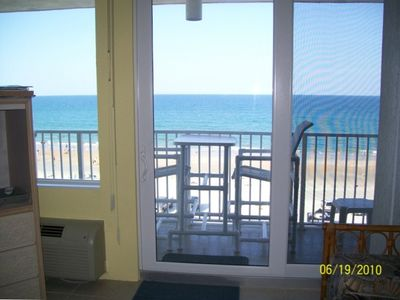 Balcony out to the beach