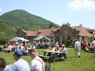 Bryson City chalet photo - Outdoor performances at the Stecoah Center are a true gem.
