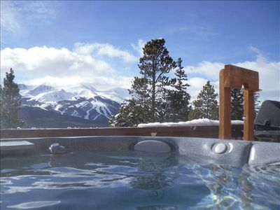 8 person Hot tub with a view