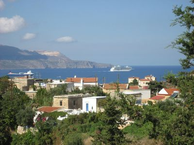 Aspro village and Souda Bay from balcony