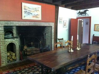 Wellfleet house photo - Dining room with antique fireplace