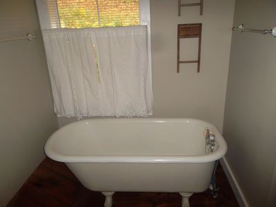 Clawfoot Tub (separate shower not shown).