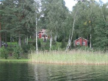 Both houses from the water