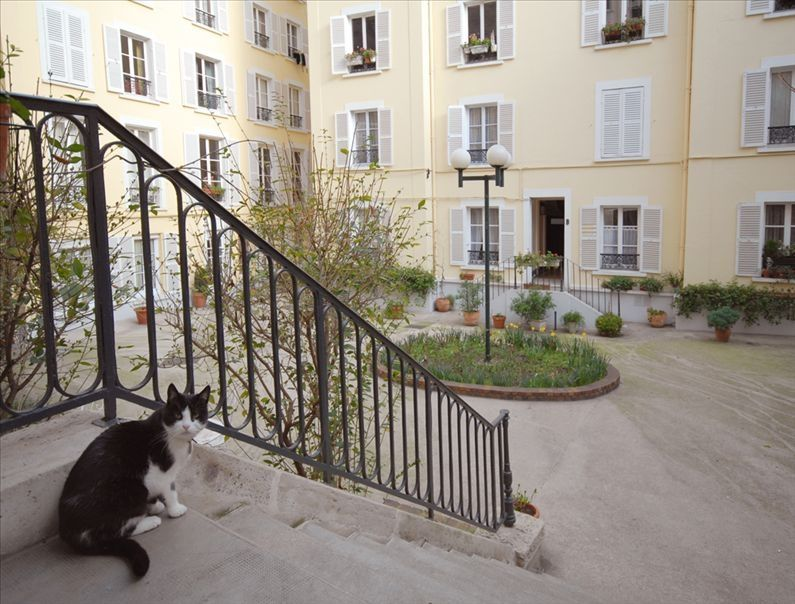 Apartment Building Courtyard quiet courtyard flat in the heart of old montmartre, paris best