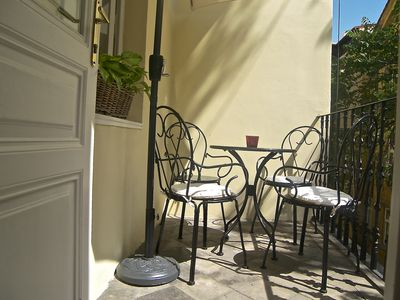 Sunny balcony, perfect for private breakfast or dinner