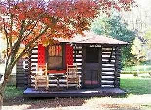 Simple cabins as they were built in 1930s