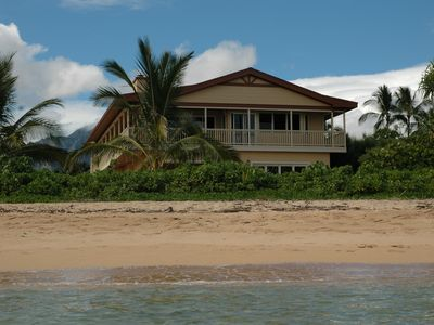 View of the beach and home from a Kayak