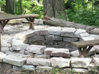 New Buffalo cabin photo - Fire-pit made for a King