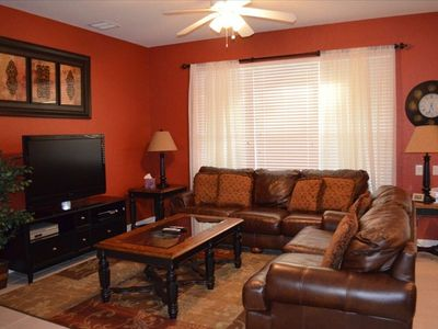 "Family Room with 46"" Flat screen TV and Sony Playstation 3"