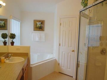 Master Bathroom - Two Sinks, Separate Tub & Shower, Private Toilet