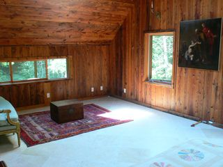 Phoenicia house photo - Upstairs bedroom facing the forest and stream.