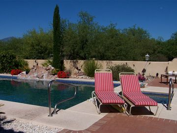 Tubac bungalow rental - Access to the owner's private solar heated pool and spa is welcome.