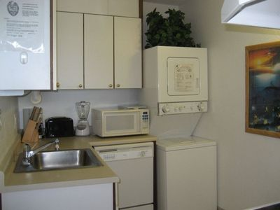 Full Kitchen with Washer and Dryer so you don't need to bring many clothes