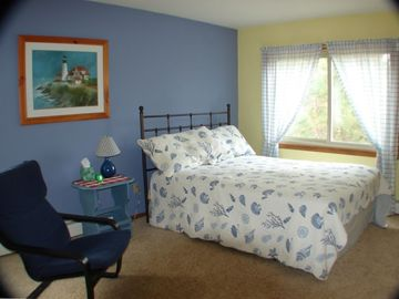 Master Bedroom with a queen bed and separate master bath