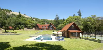325 Acre Estate with Lodge, Guest Cottage, Lakes, Pool, Tennis, Vineyard