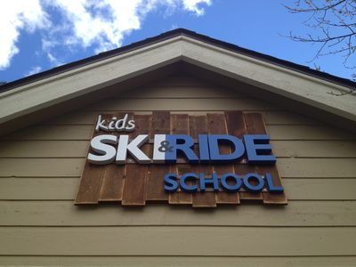 Kids Ski & Ride School (sign newly painted)