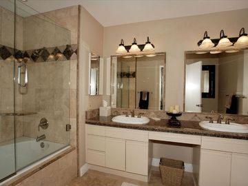 Master Bath with Beautiful Stonework in the Shower and Granite Counters !!!