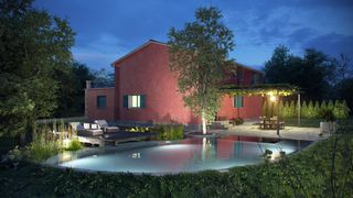 Barban villa photo - Biopool by night