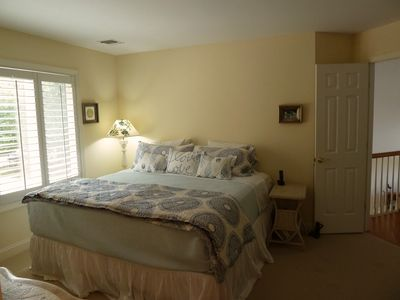 East Hampton house rental - Best quality King size bed in Master.