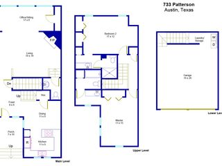Austin townhome photo - Floorplan