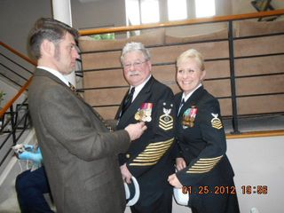 Pahrump house photo - Gene and daughter Navy Retirement