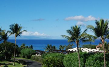 Kihei condo rental - Your view of the blue Pacific and island of Lanai from Jasmine217