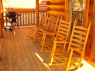 Pigeon Forge cabin photo - Outdoor Deck overlooking the Great Smoky Mountains