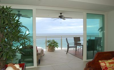 Ixtapa condo rental - looking out from the living area