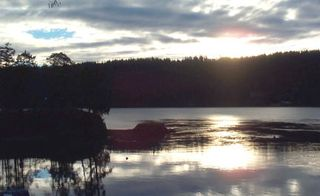 Pender Island house photo - sunset