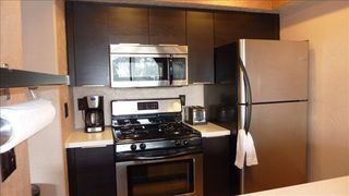 Stateline condo photo - Kitchen - Full Size Refrigerator, Microwave, Oven, Coffee Maker, and Toaster