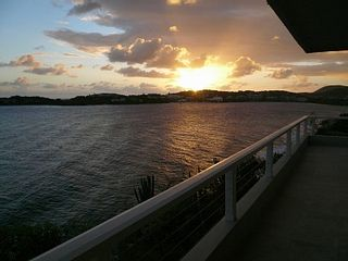 Sunset from the Terrace - East End villa vacation rental photo
