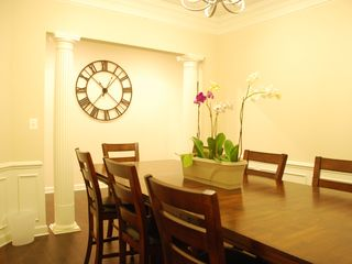 Rehoboth Beach house photo - Dining room with seating for 8 or 10 (with some extra chairs from the kitchen).