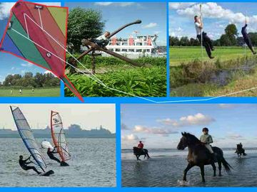 Kiting, boat excursions. pole jumping, windsurfing, horseback riding etc.