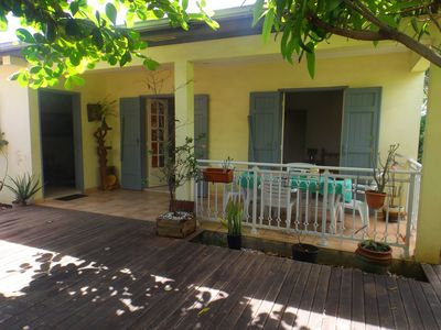 Furnished villa with garden and trees, near the Indian Ocean with Jacuzzi