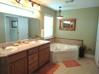 Crystal Beach house photo - Seawatch Master Bath w/ Jacuzzi Jetted Tub and Walk in shower