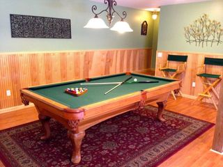 Massanutten house photo - Beautiful, full size pool table in large rec room