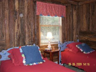 Meadows of Dan cabin photo - Twin Bedroom with Handpainted Furniture