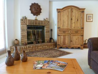 Sedona house photo - Living Room Fireplace & Armoire