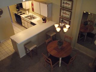 Branson condo photo - View of Kitchen/Dining Area from loft upstairs