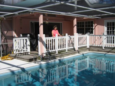Pool and Covered deck with outside dining