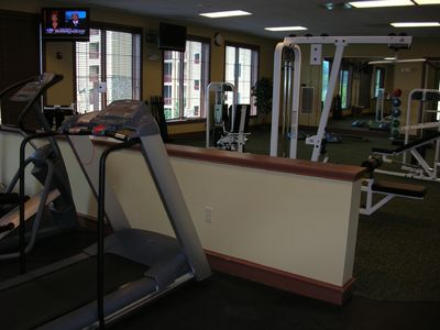 State-of-the-art Fitness Center overlooks pool