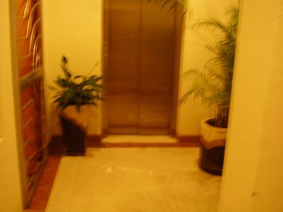 Entry, elevator to top floor