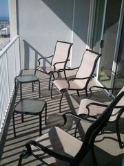 Belmont Towers Ocean City condo photo - View of Balcony Furniture Ready to Enjoy the View