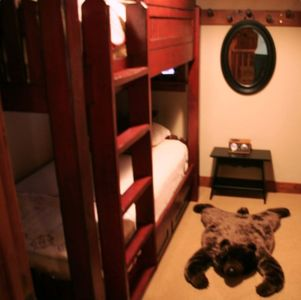 "Extra-Long bunks in 3rd Bedroom ~ 6'6"" son sleeps here"