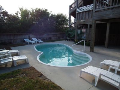 Private pool, hot tub is on the midlevel