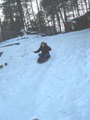 Flagstaff cabin photo - Driveway sledding. Bring your sleds!