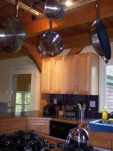 Fully equipped chef's kitchen with gas stove